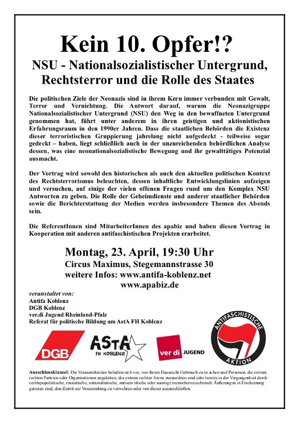 Flyer Veranstaltung NSU