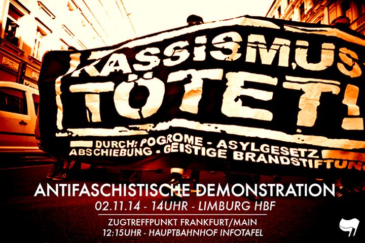 Rassismus tötet! Limburg, 2.11.14, 14Uhr